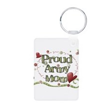 Proud Army Mom whimsy Keychains