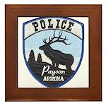 Payson Police Framed Tile
