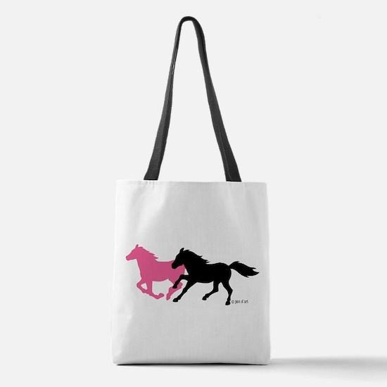 Horses (B&P) Polyester Tote Bag