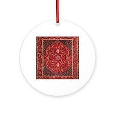 Persian Mashad Rug Round Ornament