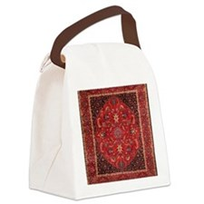 Persian Mashad Rug Canvas Lunch Bag