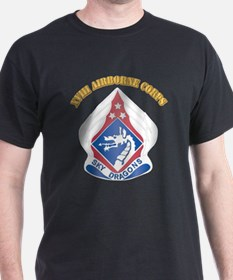 DUI - XVIII Airborne Corps with Text T-Shirt