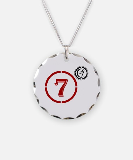 Cute American Necklace Circle Charm
