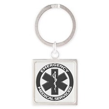 EMS logo with transparent border Square Keychain