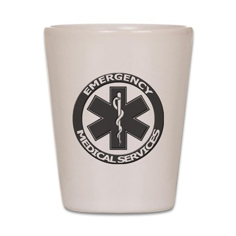 EMS logo with transparent border Shot Glass