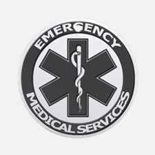 EMS logo with transparent border Round Ornament