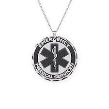 EMS logo with transparent bo Necklace