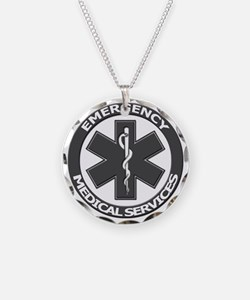 EMS logo with transparent bo Necklace
