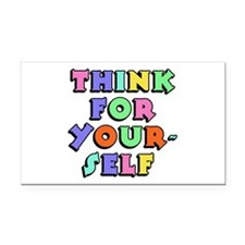 Think For Yourself Rectangle Car Magnet