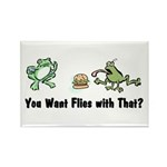Want Flies With That? Rectangle Magnet (100 pack)