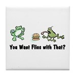 Want Flies With That? Tile Coaster