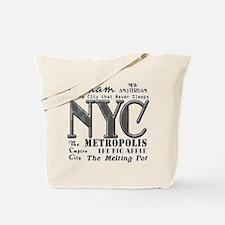 New York City with Nicknames Tote Bag