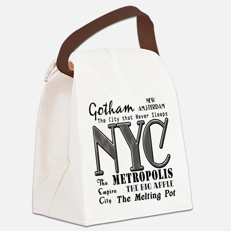 New York City with Nicknames Canvas Lunch Bag