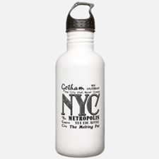 New York City with Nicknames Water Bottle