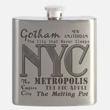 New York City with Nicknames Flask