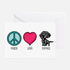 Peace Love & Puppies Greeting Cards (Pk of 10)