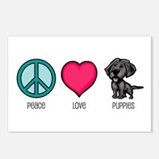 Peace Love & Puppies Postcards (Package of 8)