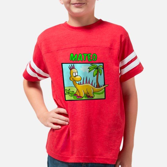 mateo dino Youth Football Shirt