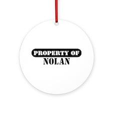 Property of Nolan Ornament (Round)
