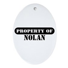 Property of Nolan Oval Ornament