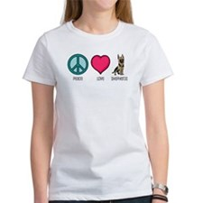 Peace Love & German Shepherds Tee