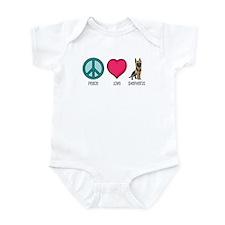 Peace Love & German Shepherds Infant Bodysuit