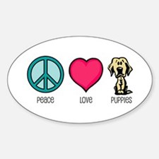 Peace Love & Labs Oval Decal