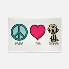 Peace Love & Labs Rectangle Magnet