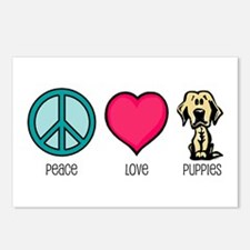Peace Love & Labs Postcards (Package of 8)