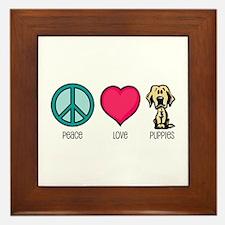 Peace Love & Labs Framed Tile