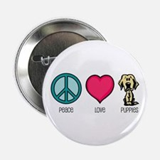 Peace Love & Labs Button