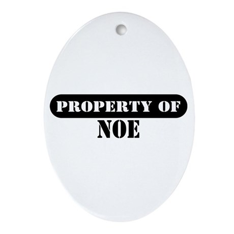 Property of Noe Oval Ornament