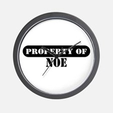 Property of Noe Wall Clock