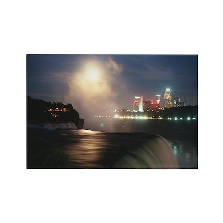 Moonset over Niagara Rectangle Magnet