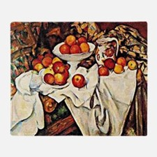 Apples, famous still life painting b Throw Blanket