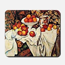 Apples, famous still life painting by Ce Mousepad