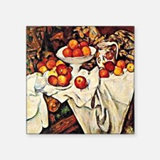 "Apples, famous still life p Square Sticker 3"" x 3"""