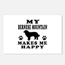My Bernese Mountain makes me happy Postcards (Pack