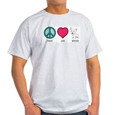 Peace Love & Westies Ash Grey T-Shirt