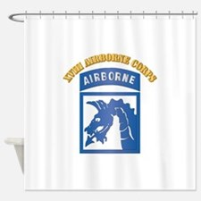 SSI - XVIII Airborne Corps with Text Shower Curtai