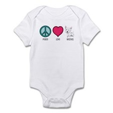Peace Love & Westies Infant Bodysuit