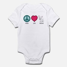 Peace Love & Westies Infant Bodysuit