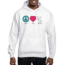 Peace Love & Westies Hoodie