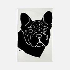 Frenchie Pup Rectangle Magnet