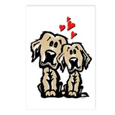 Golden Puppy Love Postcards (Package of 8)