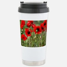 Poppy-Red Poppies Stainless Steel Travel Mug