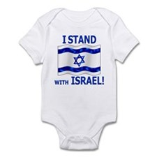 I Stand with Israel 3 Infant Bodysuit