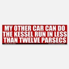 Less Than Twelve Parsecs Bumper Bumper Bumper Sticker