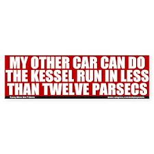 Less Than Twelve Parsecs Bumper Bumper Stickers
