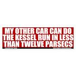 Less Than Twelve Parsecs Bumper Sticker